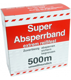 AFZETBAND ROOD/WIT 500m